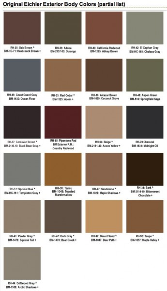 Original Eichler Paint Colors