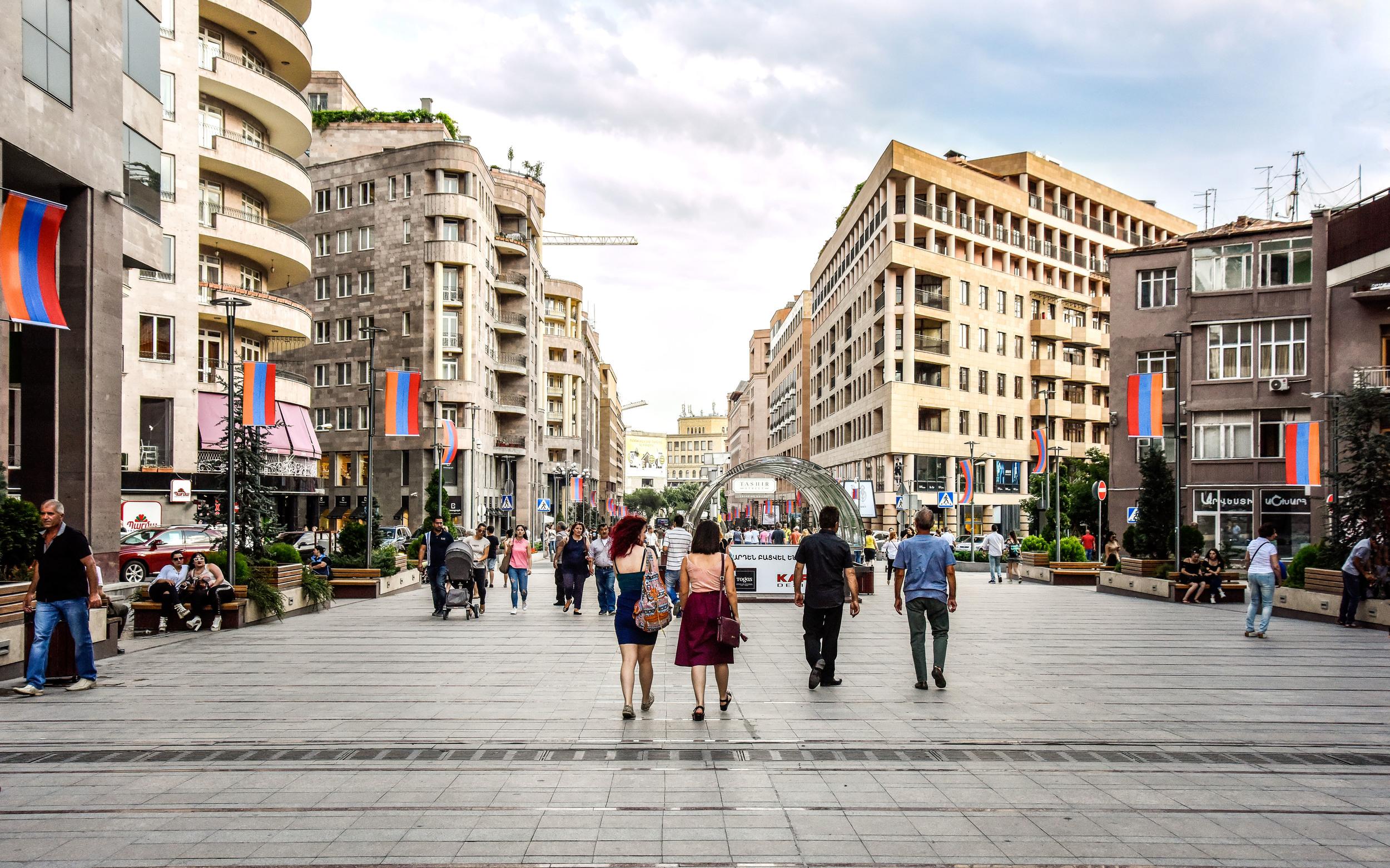 North Avenue in Yerevan