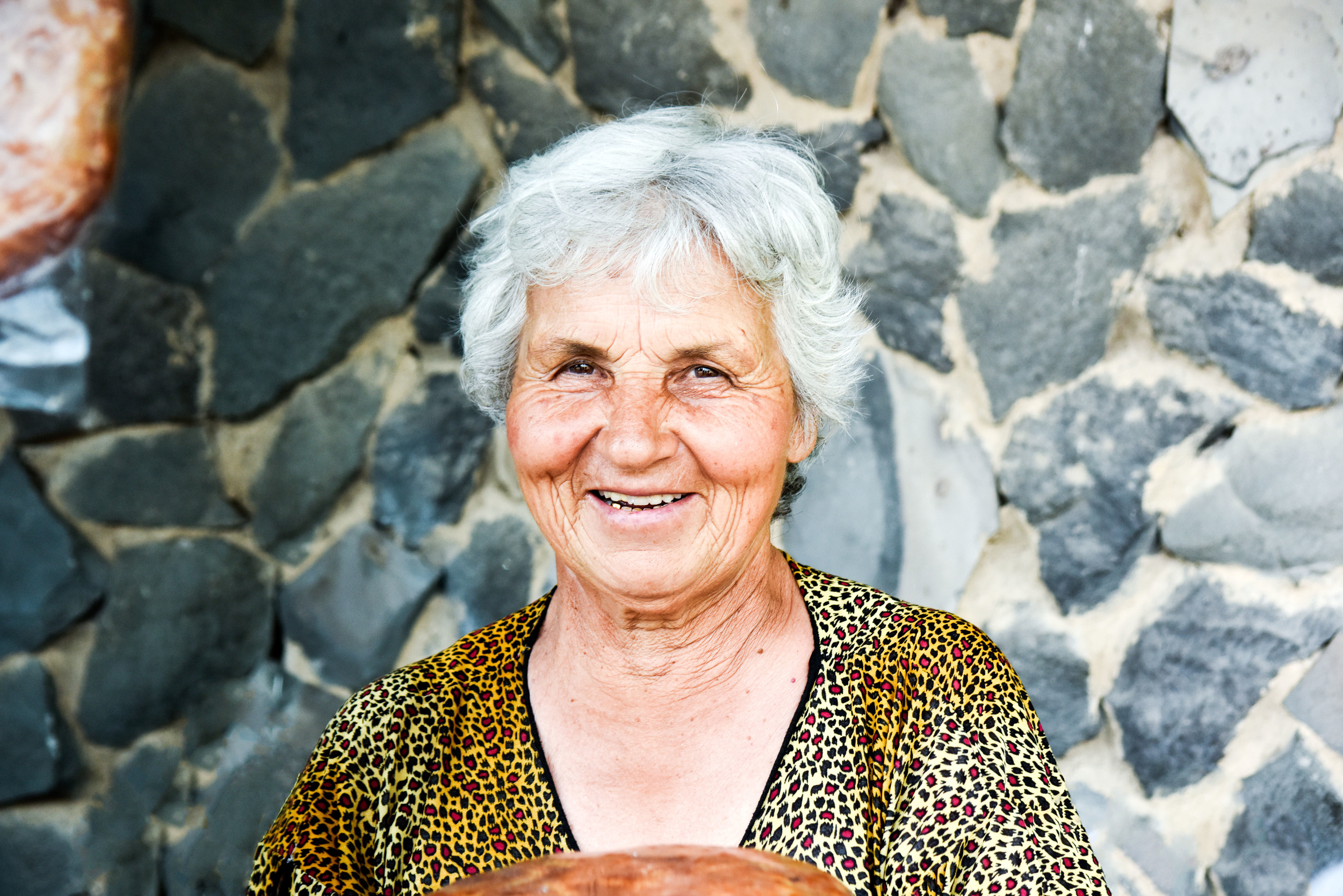 One of the ladies selling Gata, and one of the many amazing people we met in Armenia