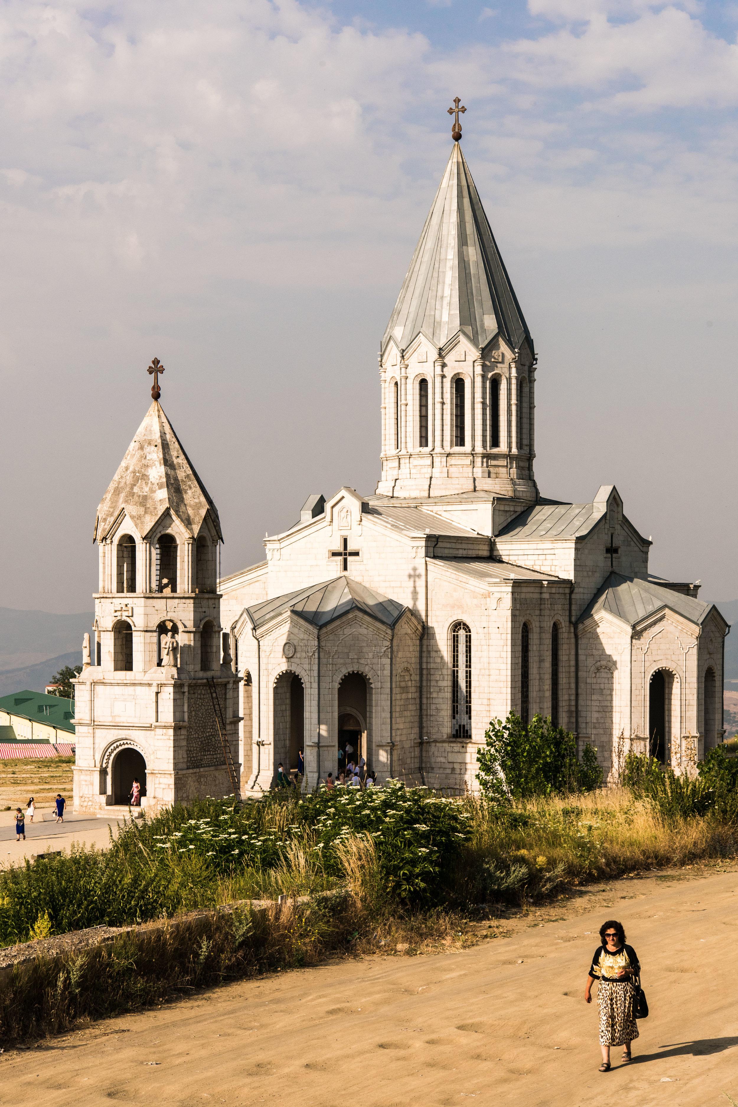 Gazenchetsots Church, now restored