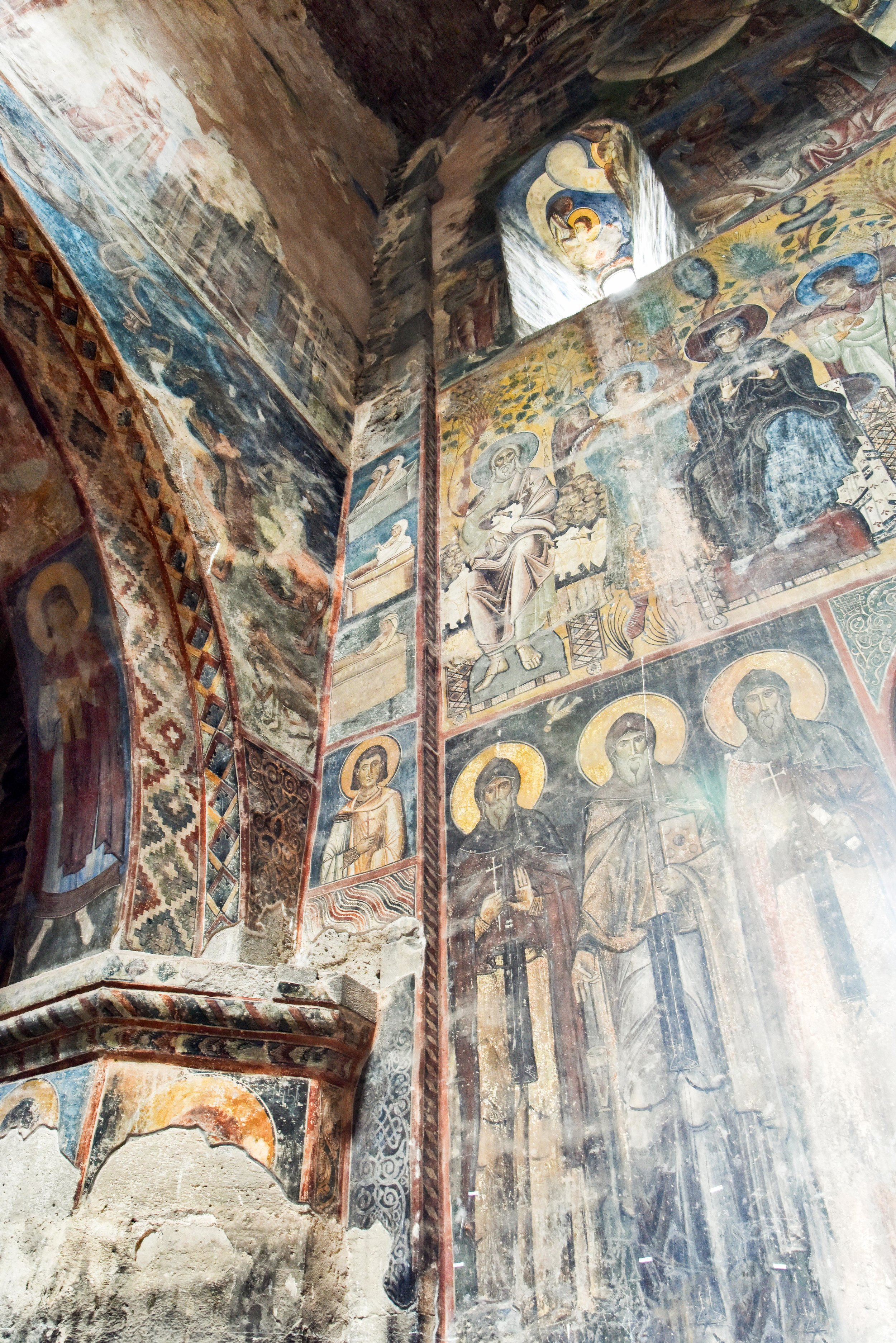 Detail of the frescoes, which await funds for restoration