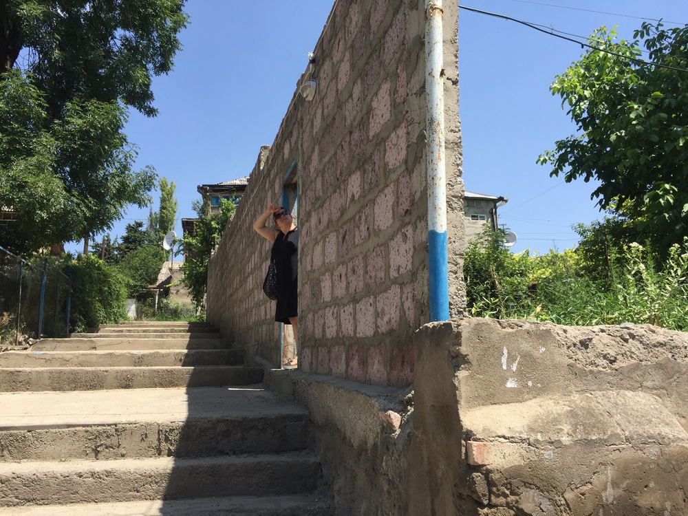 The wall Ayo built to protect the school