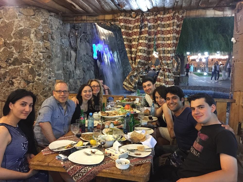 An amazing last night in Yerevan with amazing people