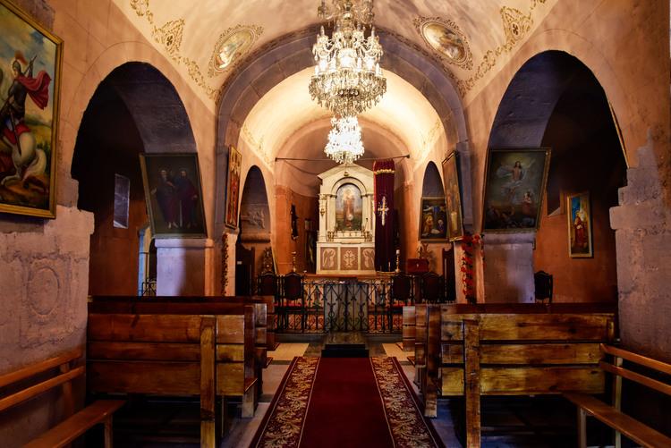 The interior of Martiros Church