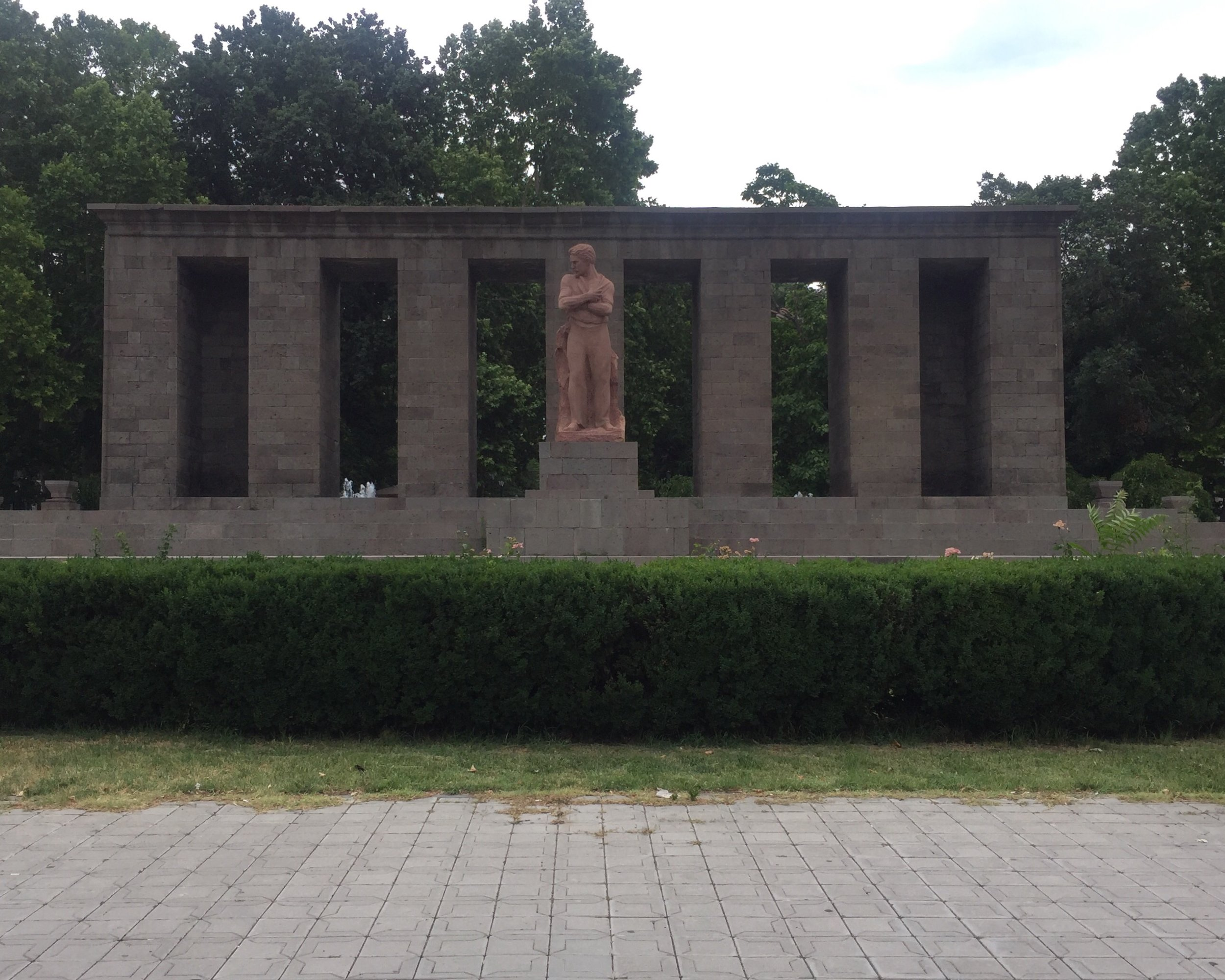 Statue of Stepan Shahumyan on our way home