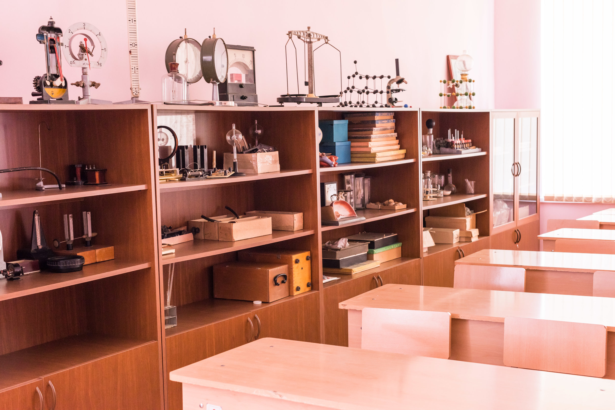 Science lab in Navur, renovated with help from FAR.