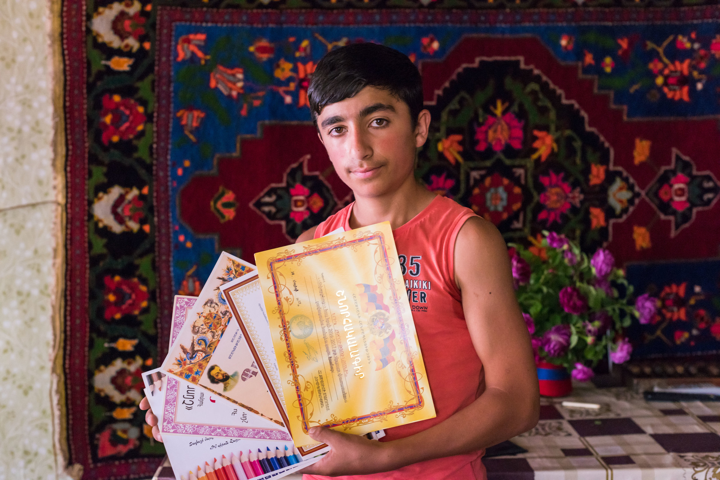Erik, whose artistic talents receive support.   FAR is changing lives in Tavush. Come and see your money at work.