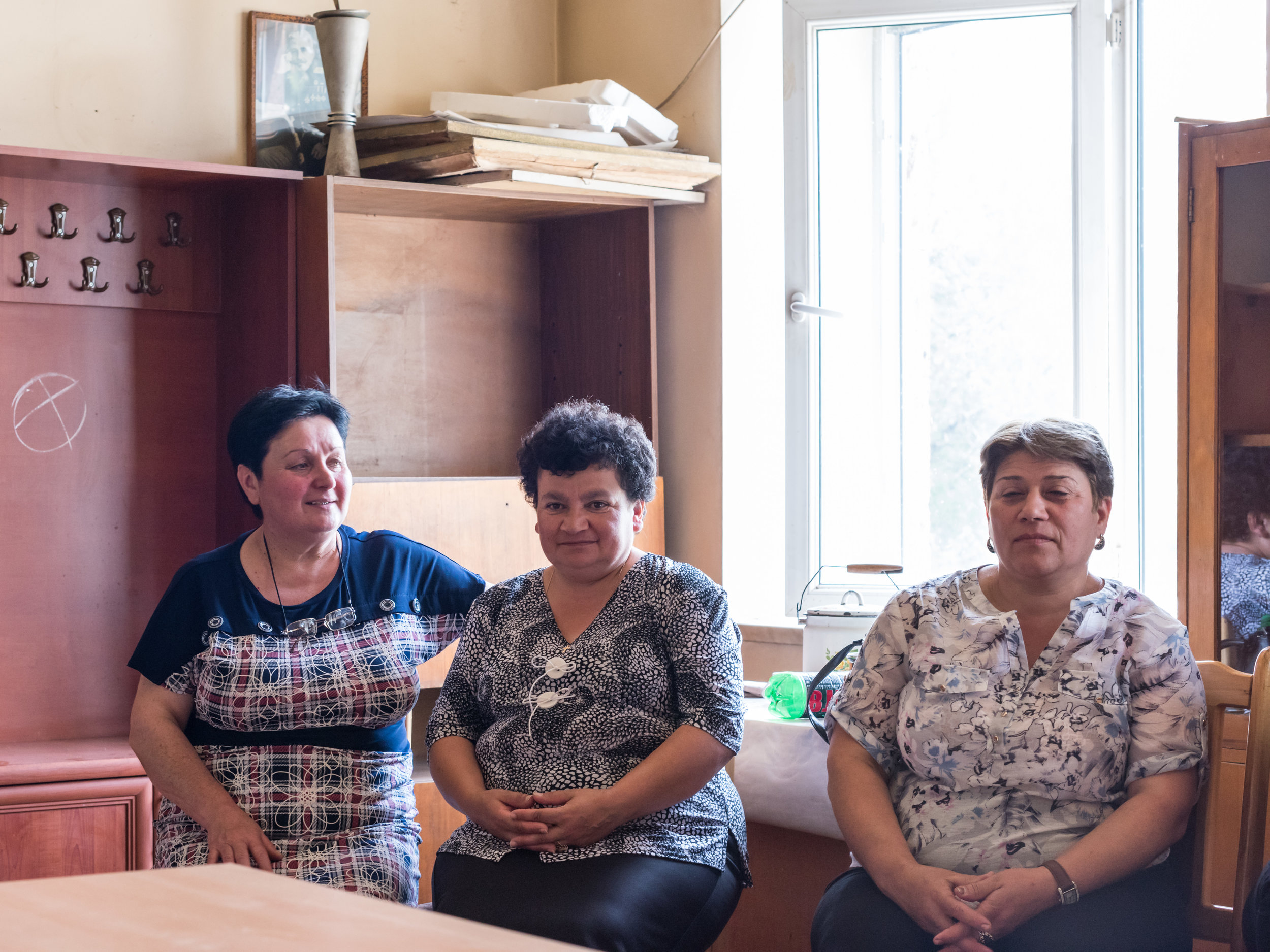 Teachers at the school in Choratan, Armenia, are a dedicated group of strong, professional women working together to improve society through education.