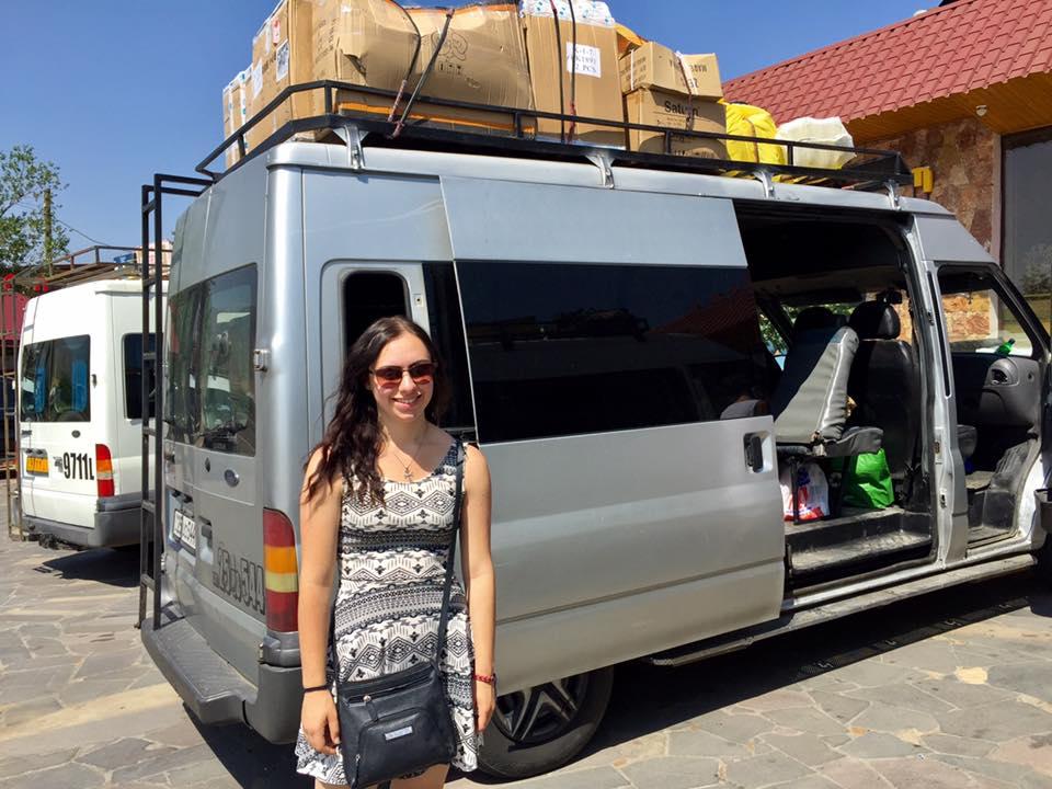 Stop on the marshrutka ride to Artsakh