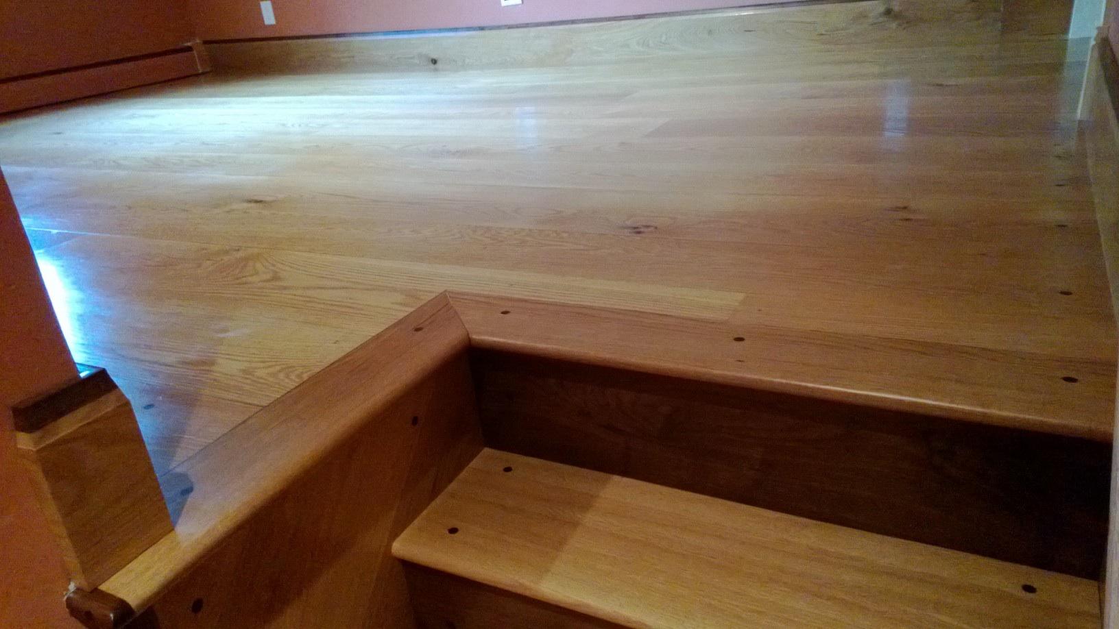 Random Width White Oak Floor