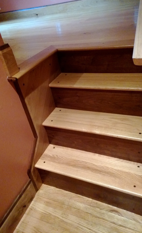 Custom White Oak Staircase with Walnut Risers