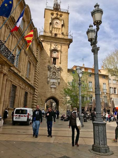 City square in Aix.