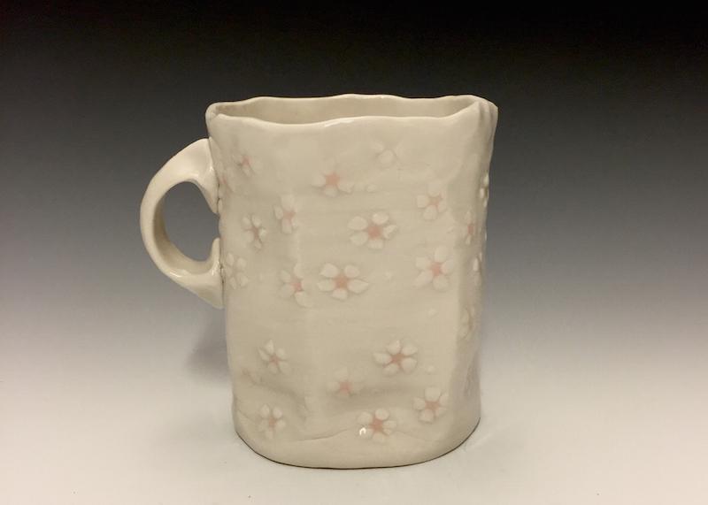 Pink petal mug