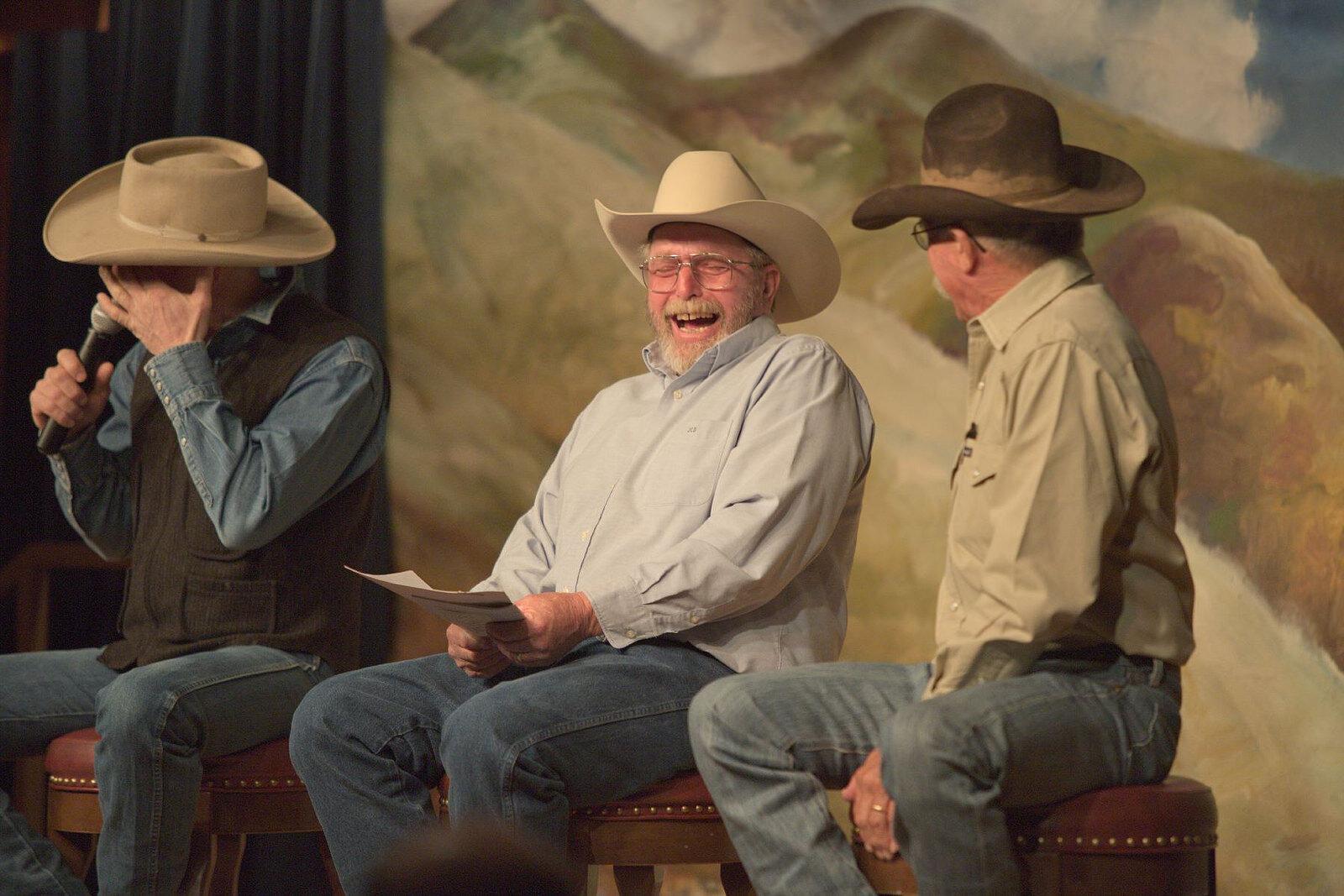 Poets Randy Rieman, John Dofflemyer and Joel Nelson, photo by Charlie Ekburg