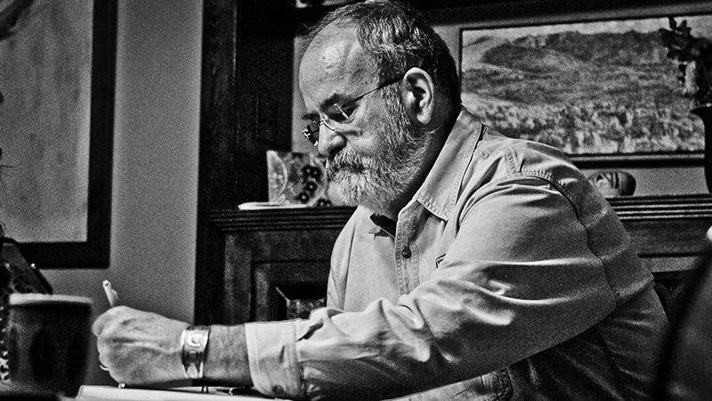 Hal Cannon was instrumental in establishing the  National Cowboy Poetry Gathering .  Photo by A.J. Mangum.