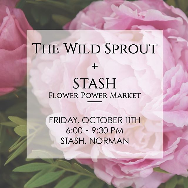 Bundle up in your favorite cozy sweater and join us tonight at @stashgoods Flower Power Market in Norman. This is our first show in over a year and we are so incredibly excited to be back!