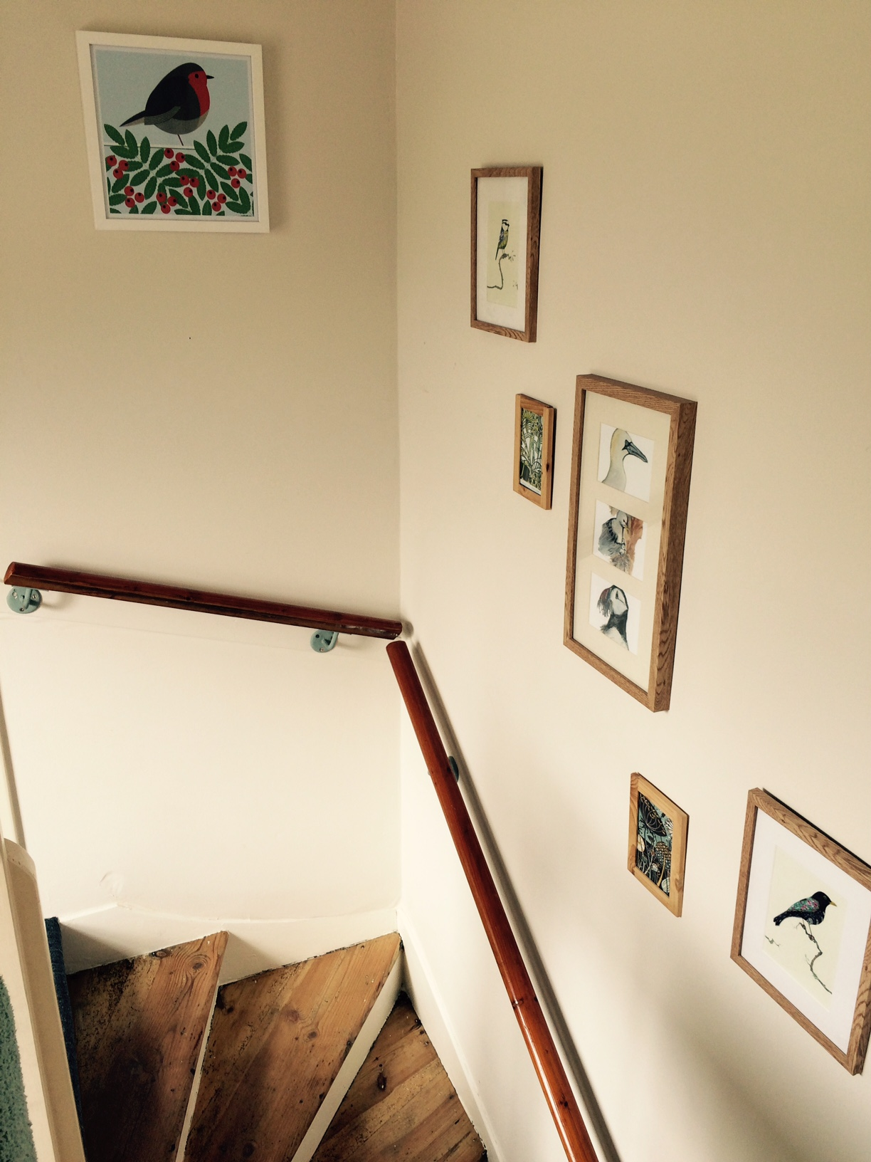 Local artists feature on the stair gallery