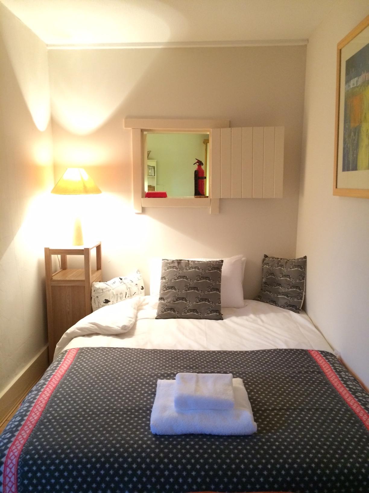 Sofa bed in a cosy nook