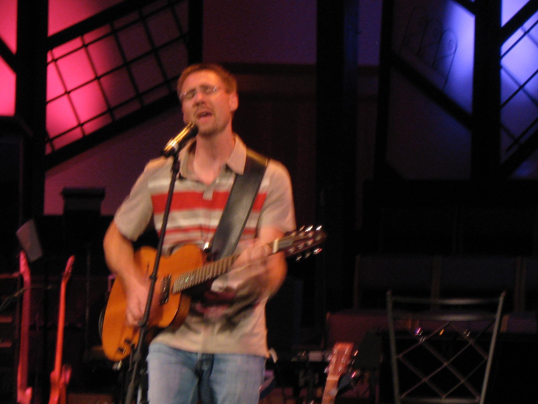 Dan Ryker at song writing contest