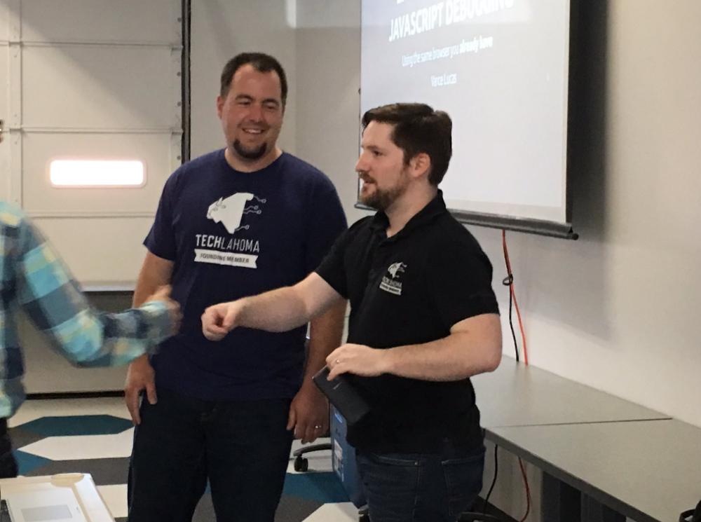 Presenters at the Oklahoma City JavaScript User Group