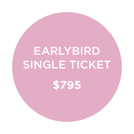 SINGLE TICKET - Get in early & save $100.(Offer ends June 30)$795
