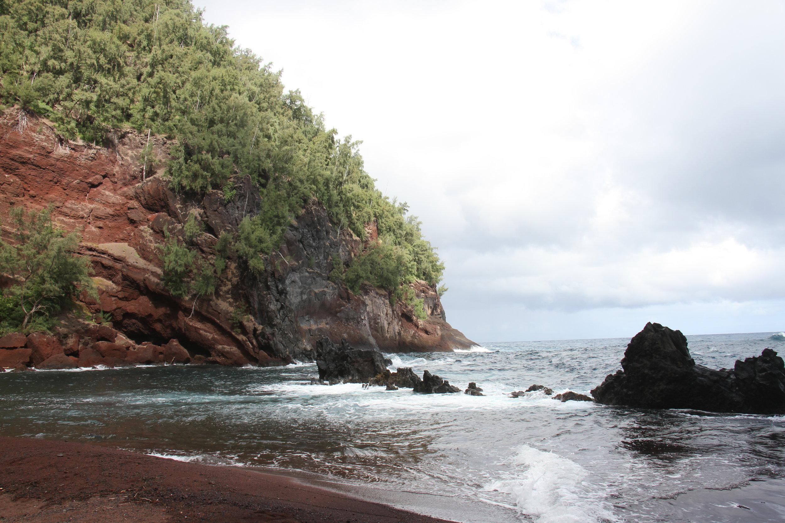 Road to Hana- Kaihalulu Bay Red Sand Beach