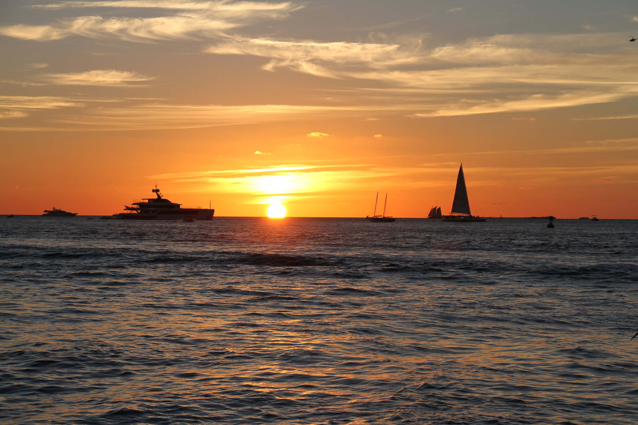 Sunset from Mallory Square in Key West