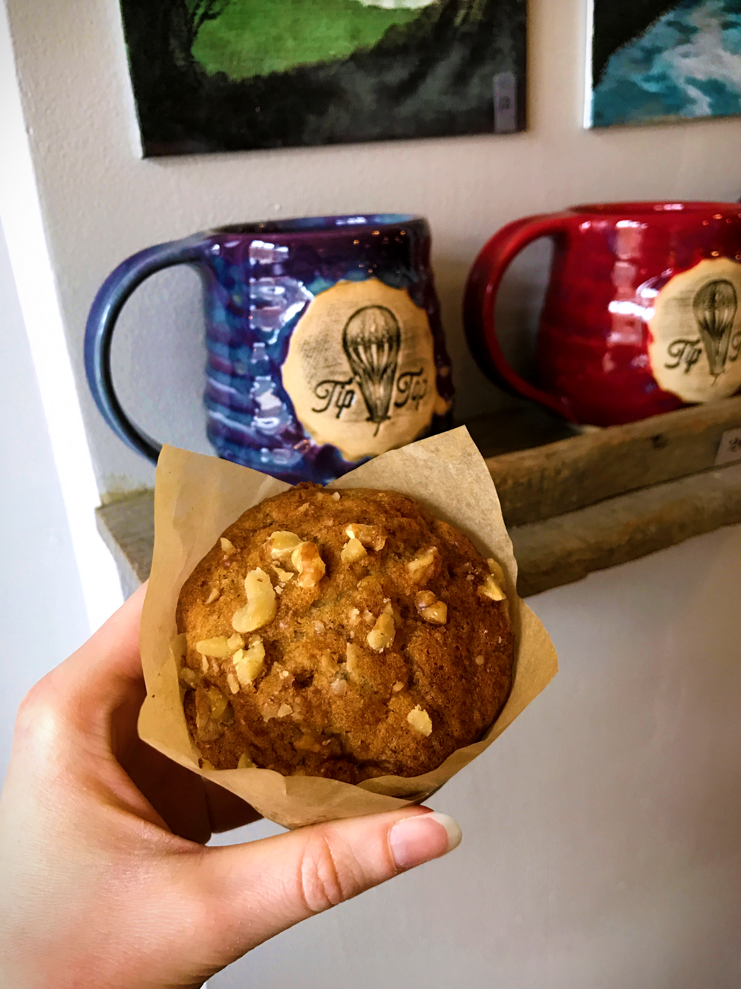 Gluten-free banana nut muffin from Tip Top