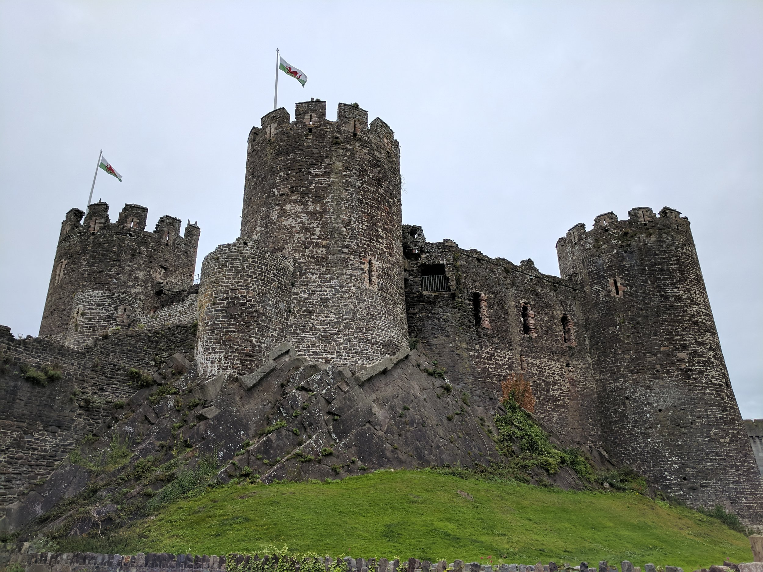 Conwy Castle in Conwy, Wales
