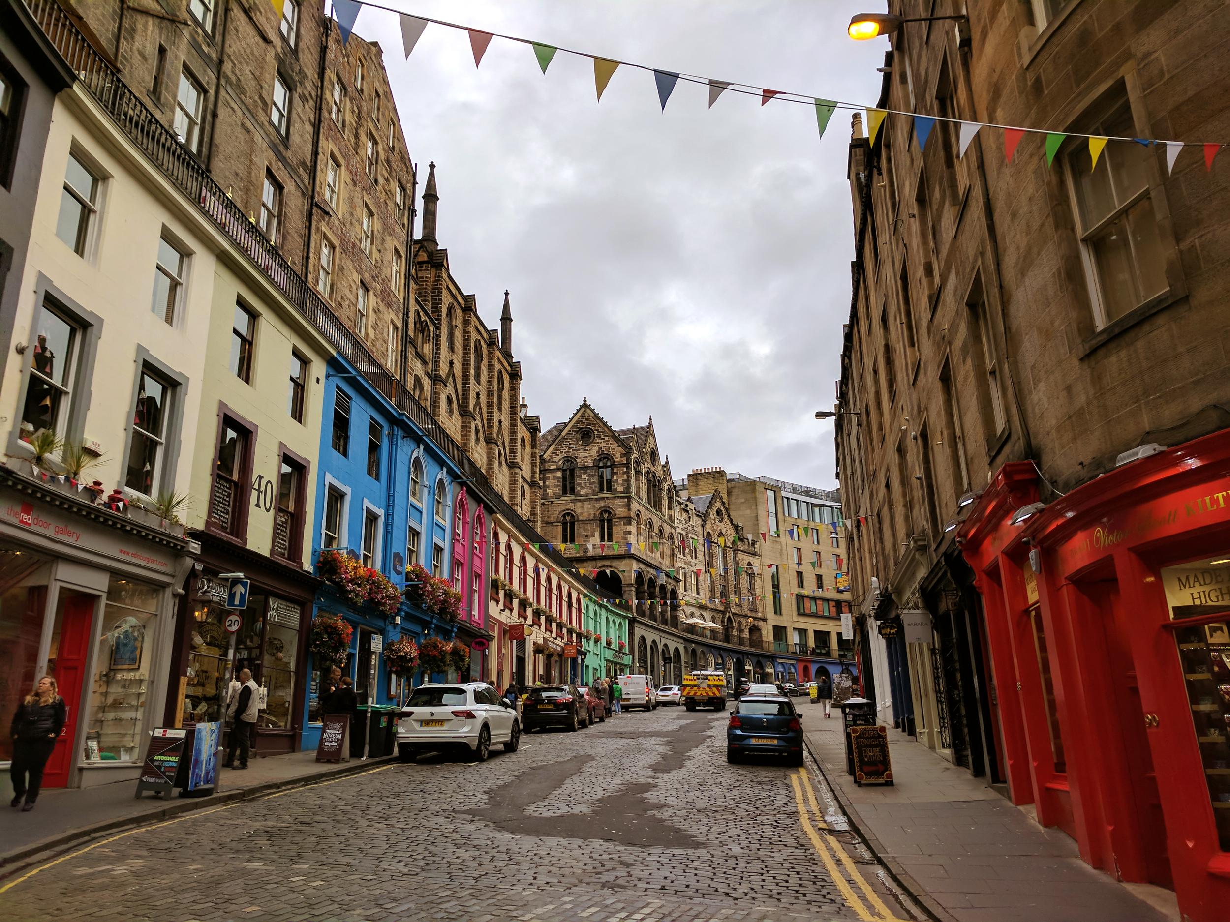 Victoria St. in Edinburgh