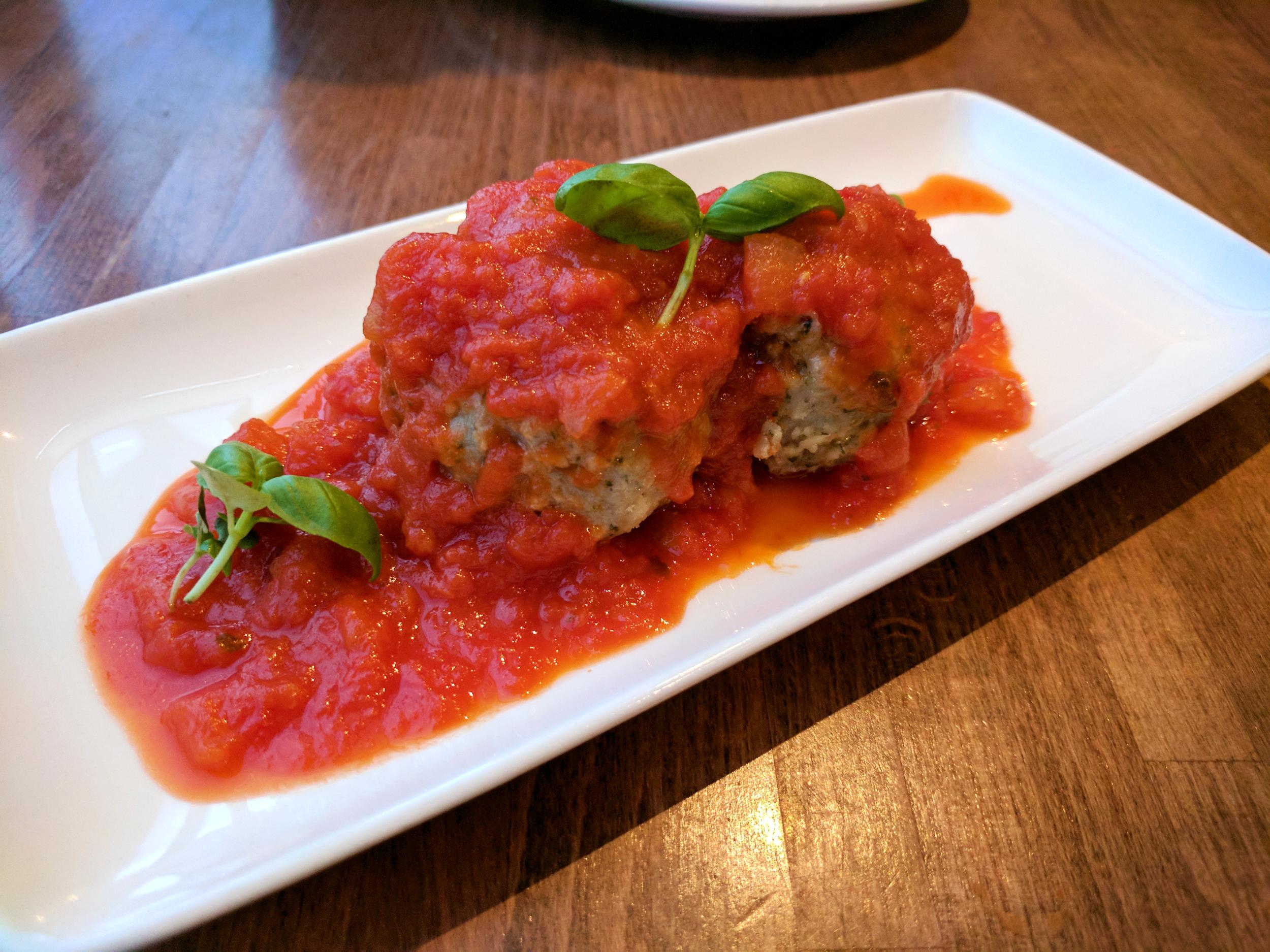 Giant Meatballs from Prezzo