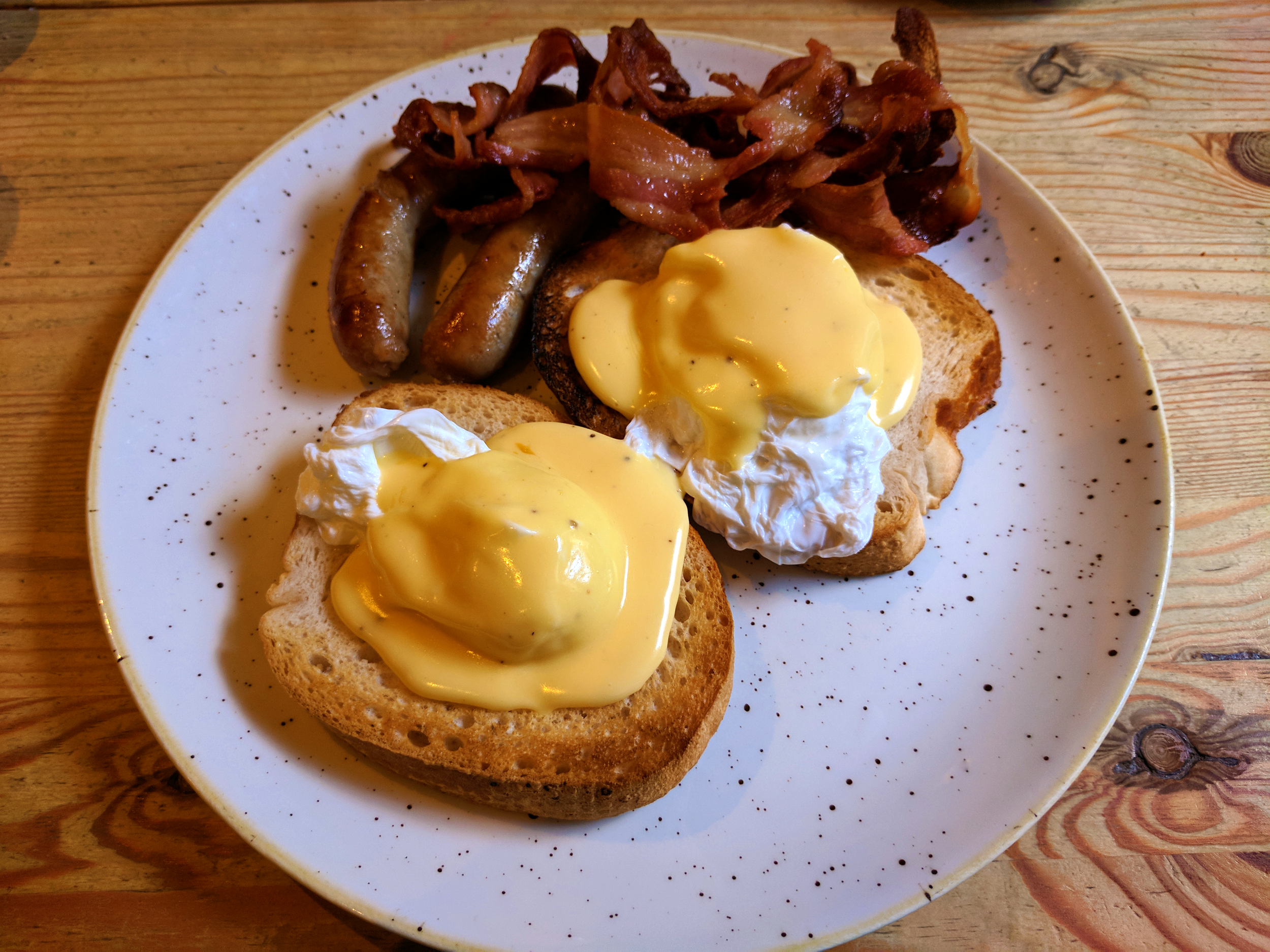 Eggs benedict on gluten-free bread from Urban Angel