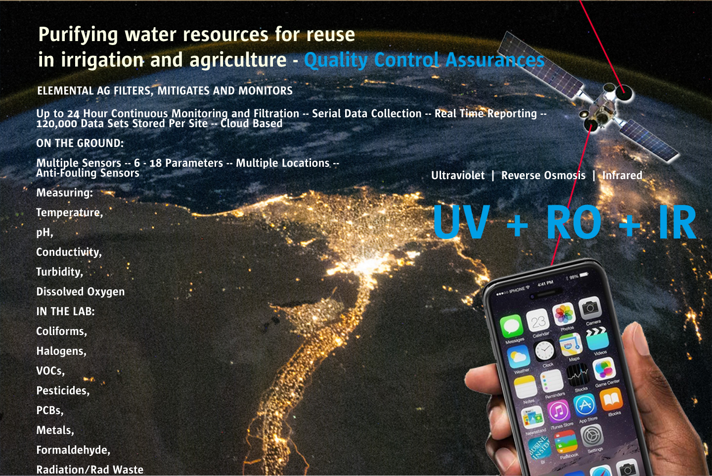 Internet of Water. Multiple measurement and distribution devices connected by robust TCP - IP networks, app controlled.