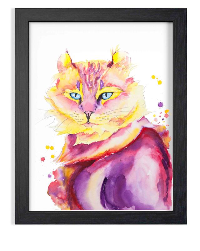 "MissD Cat Portrait Watercolor  SOLD Fabriano Artistico 100% Cotton  Original watercolor painting 16 x 20"" (41 x 51 cm)"