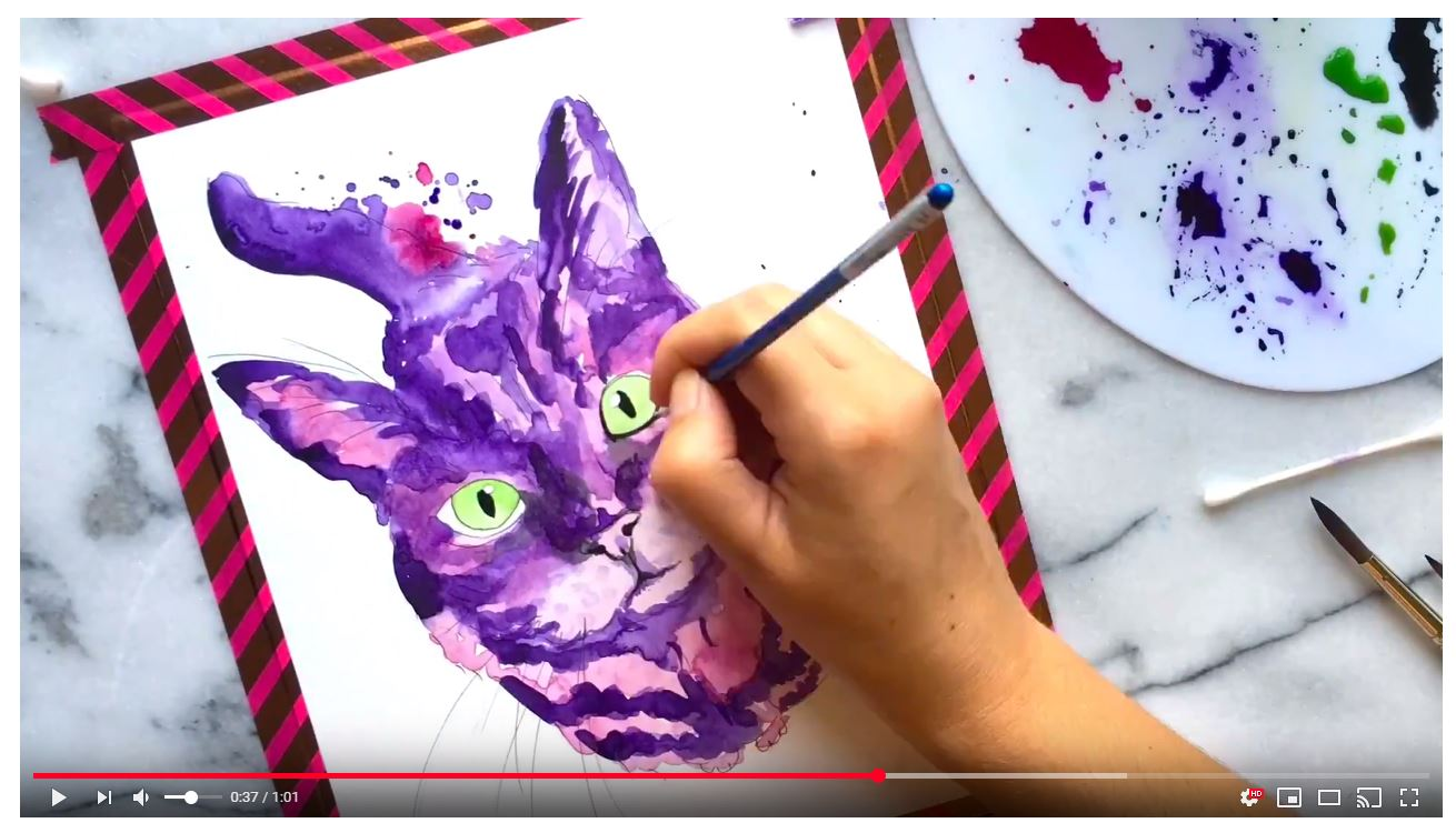 cat-watercolor-painting-video-leelou