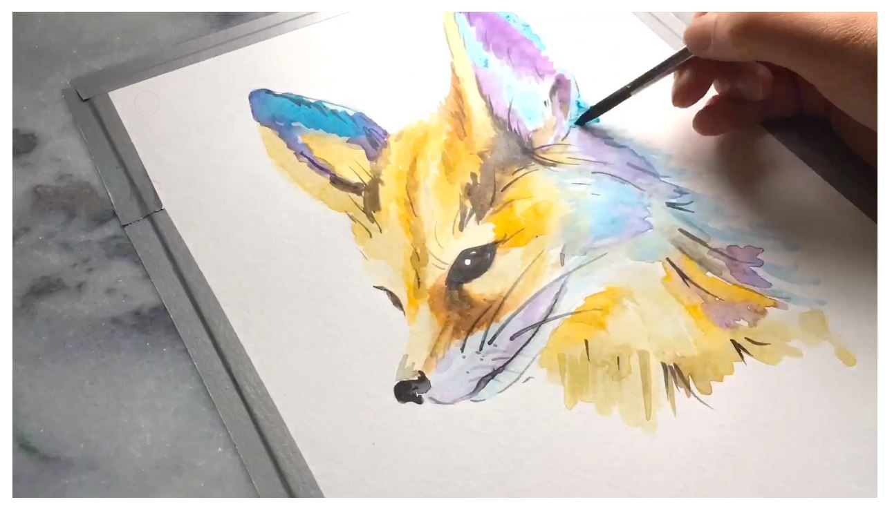 fox-watercolor-painting-video