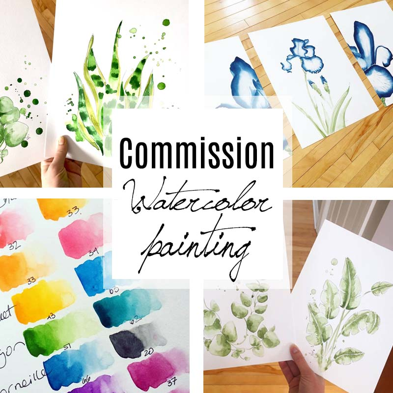 Get your dream watercolor painting done by Ces Ptits Pigments