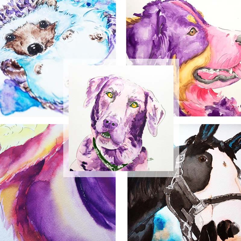 Watercolor Pet Portrait - This is true! Get a watercolor pet painting done from a photo !