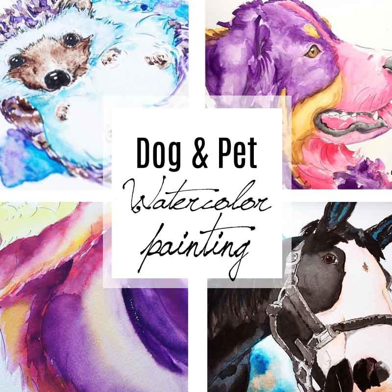 Dog & Pet Watercolor painting