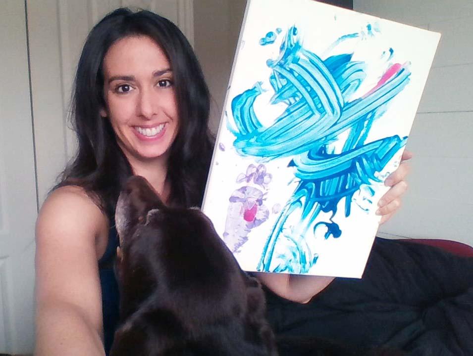 Un cadeau incroyable! - J'ai reçu une toile peinte par Chrissy !