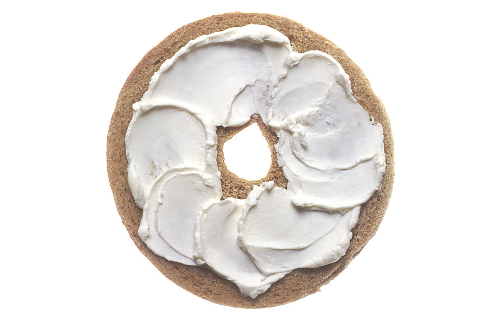 Bagel with Cream Cheese from http-::res.freestockphotos.biz:pictures:17:17142-a-bagel-with-cream-cheese-pv.jpg