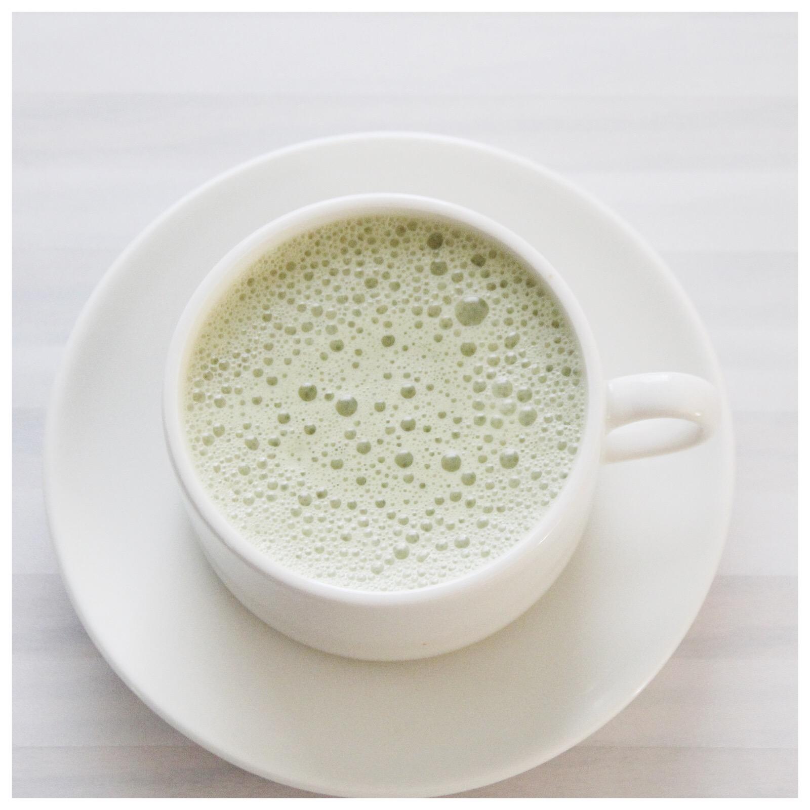 My quick & easy matcha tea latte.