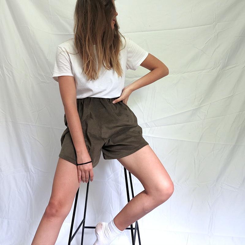 DIY: Easy High Waisted Corduroy Shorts -