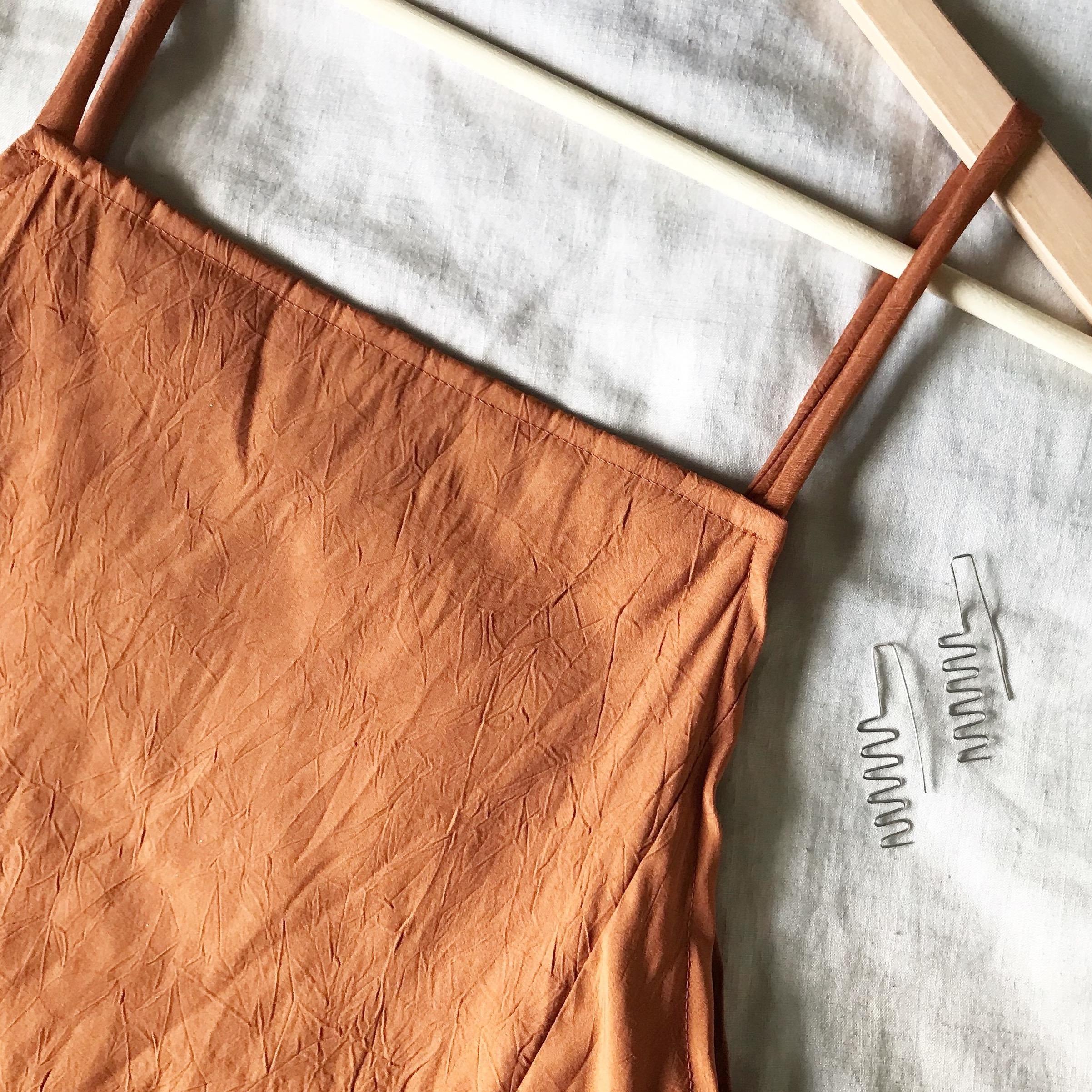 diy: simple split slip dress -