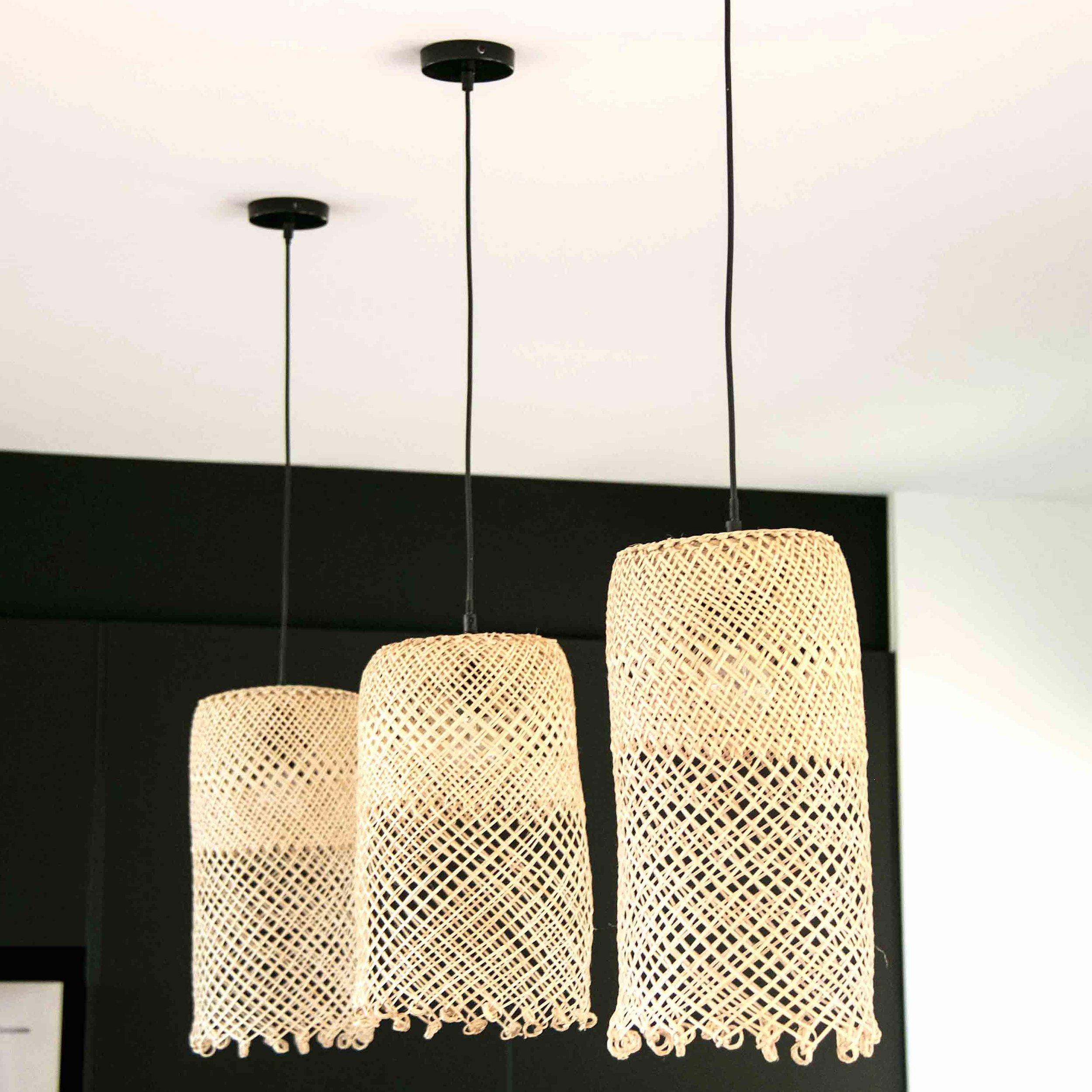 diy: basket lampshade -