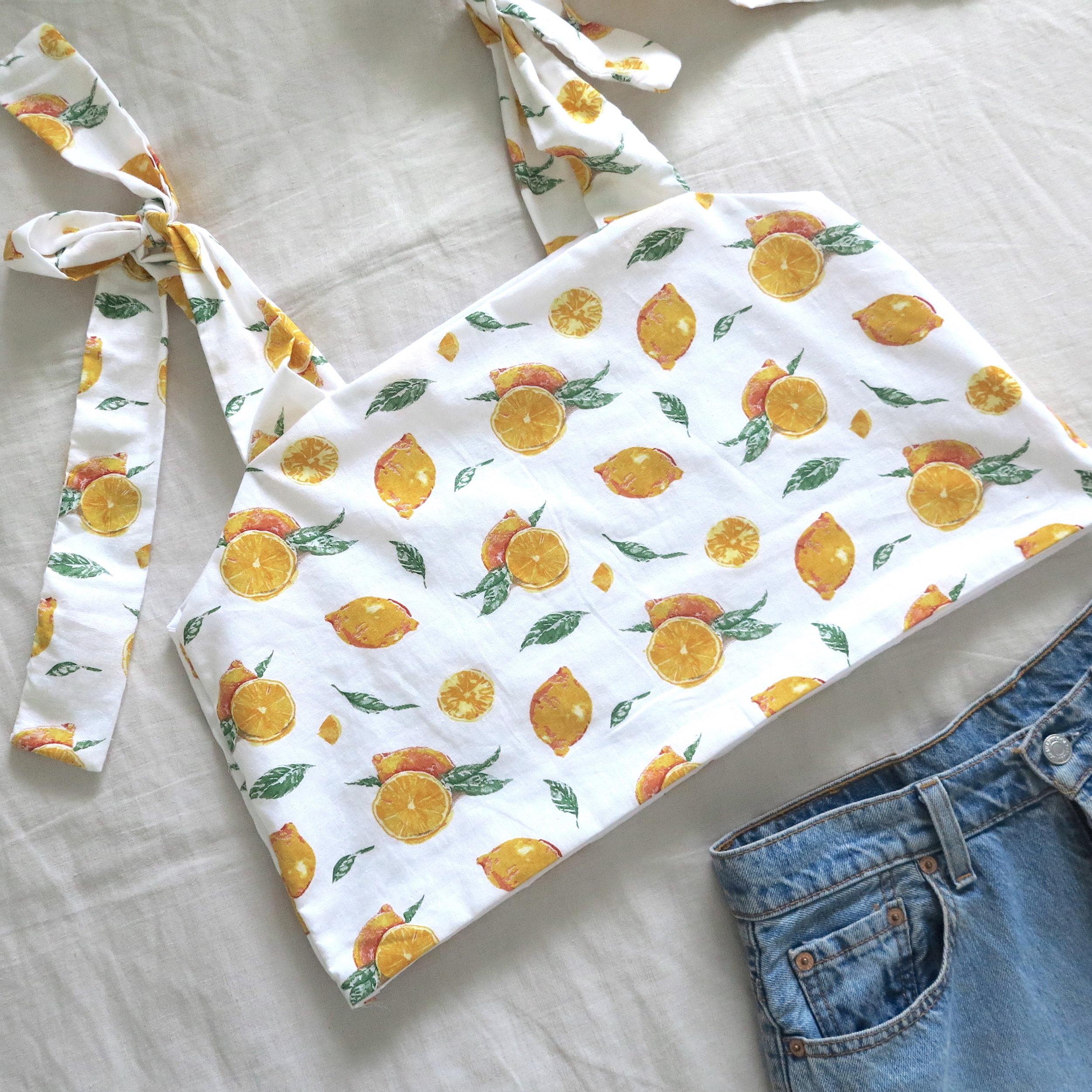 diy: cute cami top with tie sleeves -