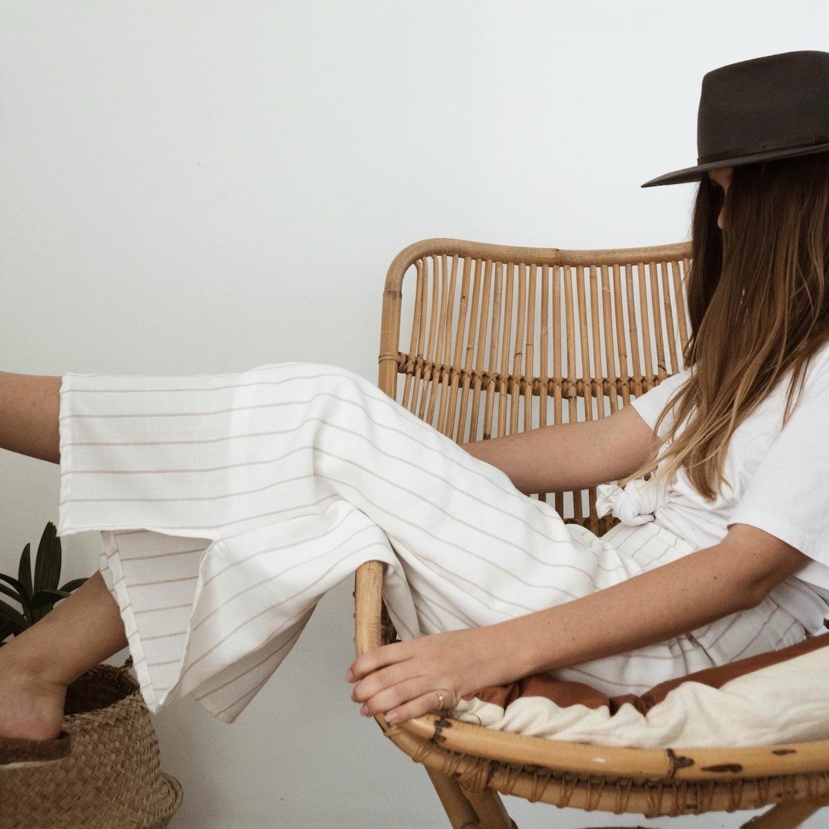 diy: linen culottes -