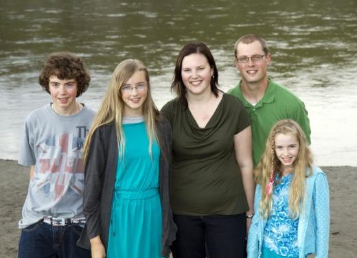July 2011; L-R: bro, Sis,Haley, Nick (my husband), Sis