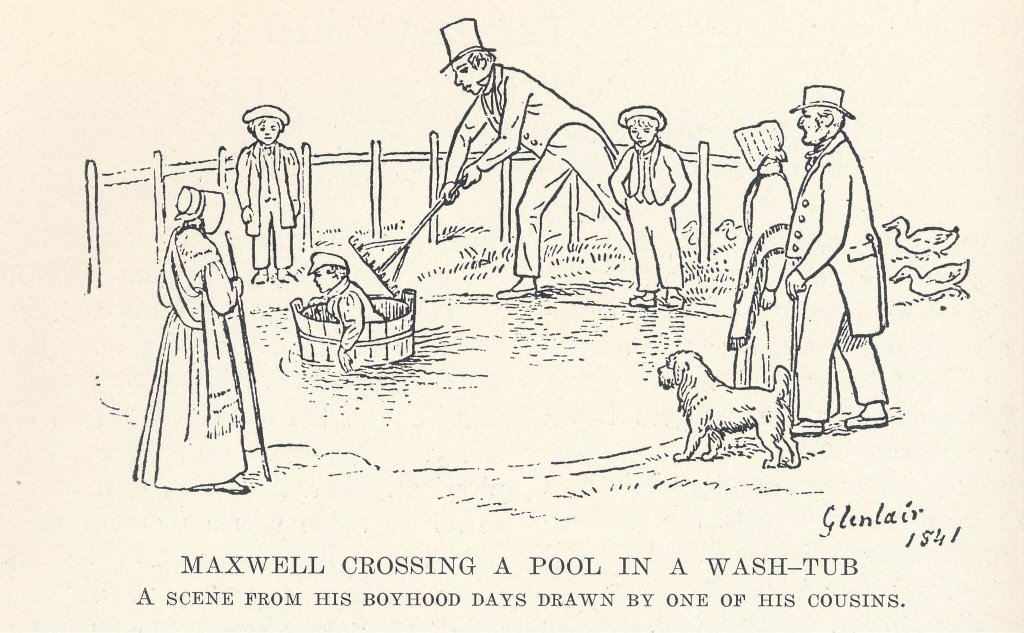 Tub sailing was apparently a big fixture of Maxwell's early years