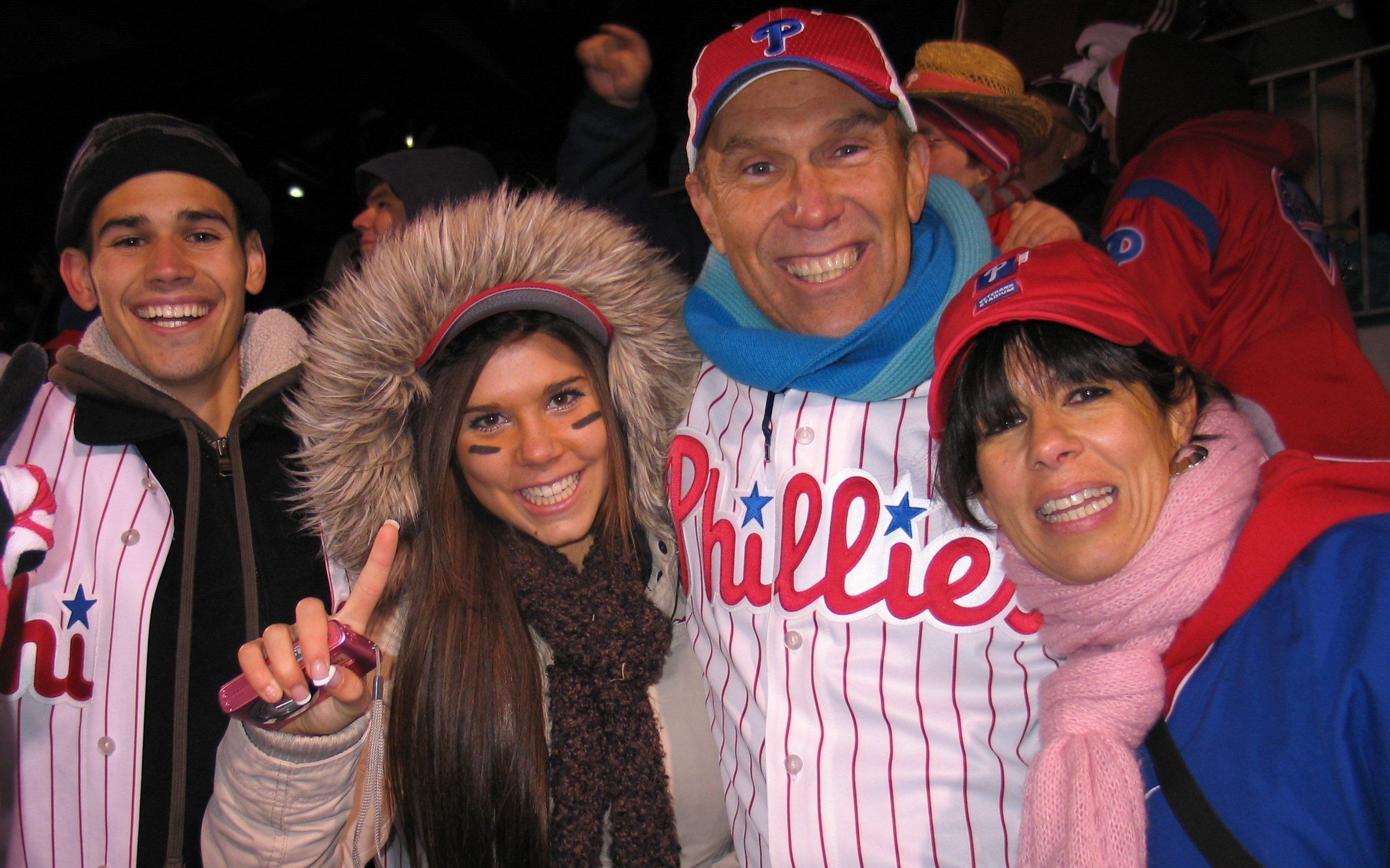 2008! Phillies Win the World Series! We are there! Crazy exciting!